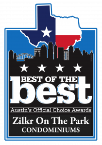 best of the best condominiums badge from Austin's Official Choice awards of Austin, TX